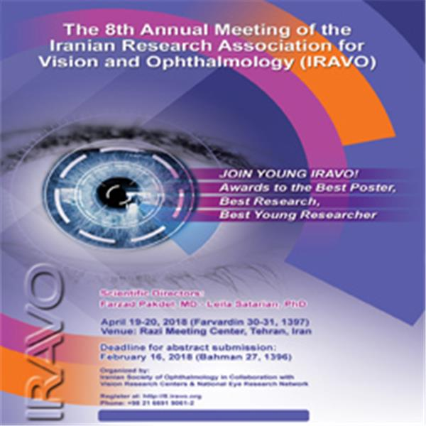Annual meeting of Iranian Research Association for Vision and Ophthalmology (IRAVO) 30-31 Farvardin. Registration in IRAVO.org and on-site.